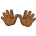 👐🏾 open hands: medium-dark skin tone Emoji on Samsung Platform
