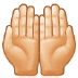 🤲🏻 palms up together: light skin tone Emoji on Samsung Platform