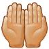 🤲🏼 palms up together: medium-light skin tone Emoji on Samsung Platform