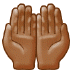 🤲🏾 palms up together: medium-dark skin tone Emoji on Samsung Platform