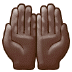 🤲🏿 palms up together: dark skin tone Emoji on Samsung Platform