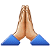 🙏🏼 Medium-Light Skin Tone Folded Hands Emoji on Samsung Platform