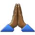 🙏🏾 folded hands: medium-dark skin tone Emoji on Samsung Platform