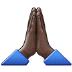 🙏🏿 folded hands: dark skin tone Emoji on Samsung Platform