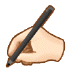 ✍🏻 writing hand: light skin tone Emoji on Samsung Platform