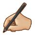 ✍🏼 writing hand: medium-light skin tone Emoji on Samsung Platform