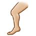 🦵🏼 leg: medium-light skin tone Emoji on Samsung Platform