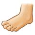 🦶🏻 foot: light skin tone Emoji on Samsung Platform