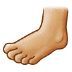 🦶🏼 foot: medium-light skin tone Emoji on Samsung Platform