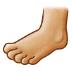 🦶🏼 foot: medium-light skin tone Emoji on Samsung Platform