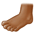 🦶🏾 foot: medium-dark skin tone Emoji on Samsung Platform