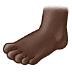 🦶🏿 foot: dark skin tone Emoji on Samsung Platform