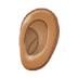 👂🏽 ear: medium skin tone Emoji on Samsung Platform