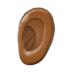 👂🏾 ear: medium-dark skin tone Emoji on Samsung Platform