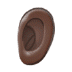 👂🏿 ear: dark skin tone Emoji on Samsung Platform