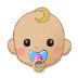 👶🏼 baby: medium-light skin tone Emoji on Samsung Platform