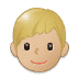 👦🏼 boy: medium-light skin tone Emoji on Samsung Platform