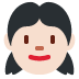 👧🏻 girl: light skin tone Emoji on Twitter Platform