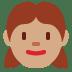 👧🏽 girl: medium skin tone Emoji on Twitter Platform