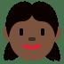 👧🏿 girl: dark skin tone Emoji on Twitter Platform