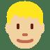 👱🏼 person: medium-light skin tone, blond hair Emoji on Twitter Platform