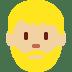 🧔🏼 man: medium-light skin tone, beard Emoji on Twitter Platform