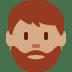 🧔🏽 man: medium skin tone, beard Emoji on Twitter Platform