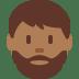 🧔🏾 Medium Dark Skin Tone Bearded Man Emoji on Twitter Platform