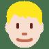 👱🏻♂️ man: light skin tone, blond hair Emoji on Twitter Platform