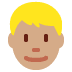 👱🏽‍♂️ man: medium skin tone, blond hair Emoji on Twitter Platform