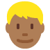 👱🏾‍♂️ man: medium-dark skin tone, blond hair Emoji on Twitter Platform