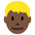 👱🏿‍♂️ man: dark skin tone, blond hair Emoji on Twitter Platform