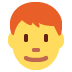 👨‍🦰 man: red hair Emoji on Twitter Platform
