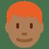👨🏾🦰 man: medium-dark skin tone, red hair Emoji on Twitter Platform