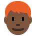 👨🏿‍🦰 man: dark skin tone, red hair Emoji on Twitter Platform