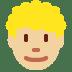 👨🏼🦱 man: medium-light skin tone, curly hair Emoji on Twitter Platform