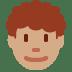 👨🏽🦱 man: medium skin tone, curly hair Emoji on Twitter Platform