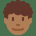 👨🏾🦱 Medium Dark Skin Tone Curly Hair Man Emoji on Twitter Platform