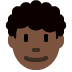 👨🏿‍🦱 man: dark skin tone, curly hair Emoji on Twitter Platform