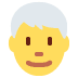 👨‍🦳 man: white hair Emoji on Twitter Platform