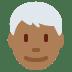 👨🏾🦳 man: medium-dark skin tone, white hair Emoji on Twitter Platform