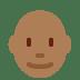 👨🏾🦲 man: medium-dark skin tone, bald Emoji on Twitter Platform