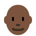 👨🏿‍🦲 man: dark skin tone, bald Emoji on Twitter Platform