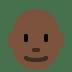 👨🏿🦲 man: dark skin tone, bald Emoji on Twitter Platform