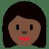 👩🏿 Dark Skin Tone Woman Emoji on Twitter Platform