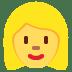 👱♀️ woman: blond hair Emoji on Twitter Platform