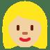 👱🏼♀️ woman: medium-light skin tone, blond hair Emoji on Twitter Platform