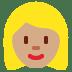👱🏽♀️ woman: medium skin tone, blond hair Emoji on Twitter Platform