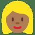 👱🏾♀️ woman: medium-dark skin tone, blond hair Emoji on Twitter Platform