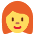 👩‍🦰 woman: red hair Emoji on Twitter Platform